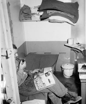 Salt Lake Tribune Archive Inmate in his cell at the Utah State Prison in 1943.